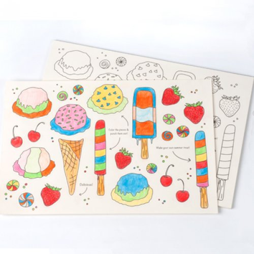 Ice Cream Themed Party Kids Activity Placemats