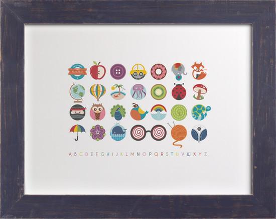 Nursery Wall Art Alphabet in the Round