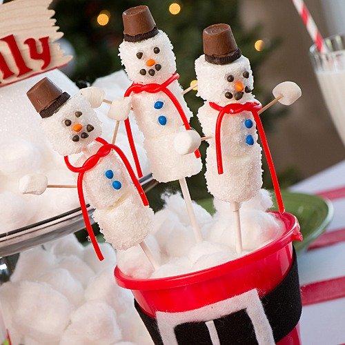 DIY Marshmallow Snowman Lollipo Favor