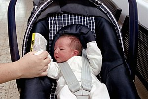 Coming Back from Hospital in an Infant Car Seat