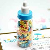 mini plastic bottles baby shower favor