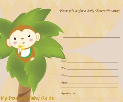 Free Monkey Baby Shower Invitation