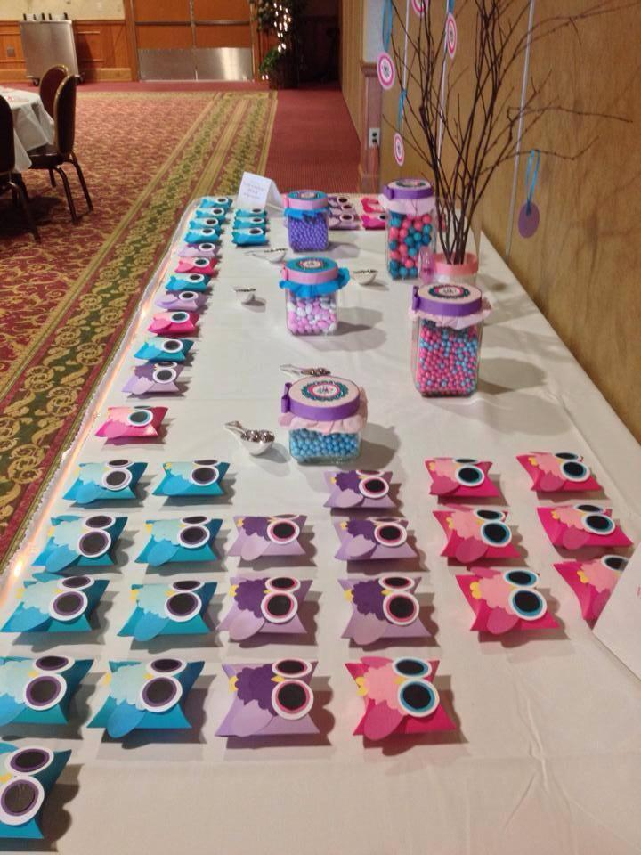 Owl Baby Shower Candy Buffet