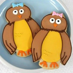 owl baby shower cookies