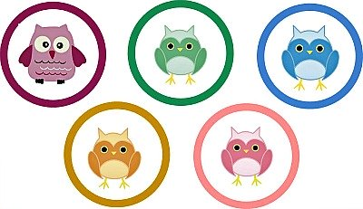 free owl baby shower cupcake toppers
