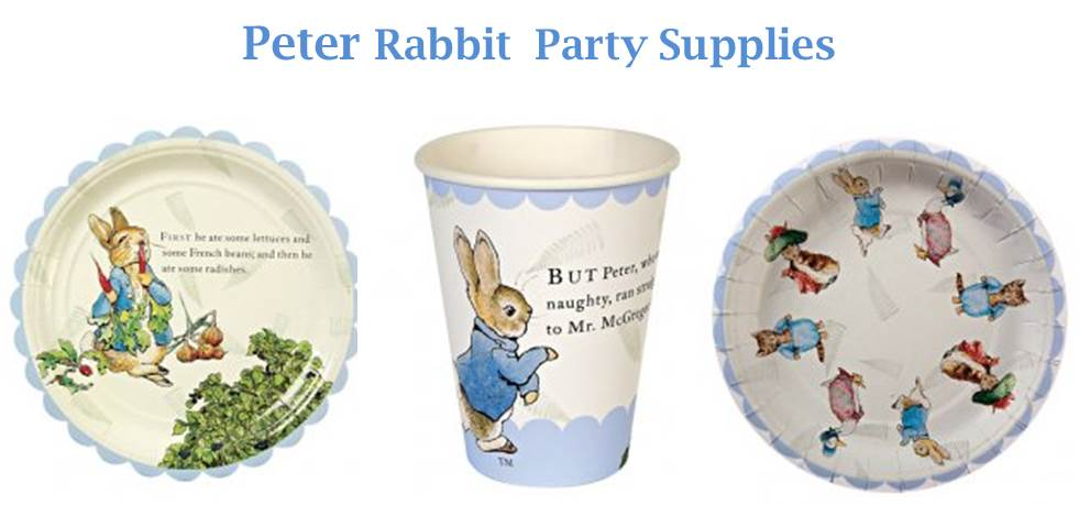 Peter Rabbit Party Supplies