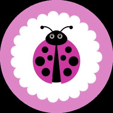 Free Printable Pink Ladybug Cupcake Toppers