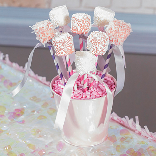 Princess Baby Shower Marshmallow Pops My Practical Baby Shower Guide
