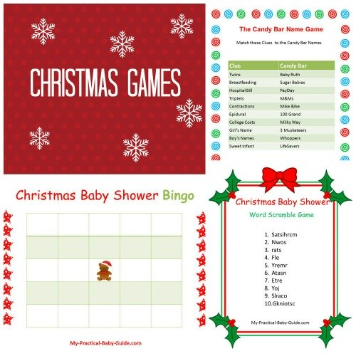 Free Printable Christmas Baby Shower Games