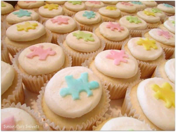 Puzzle Cupcakes for Adoption Baby Shower
