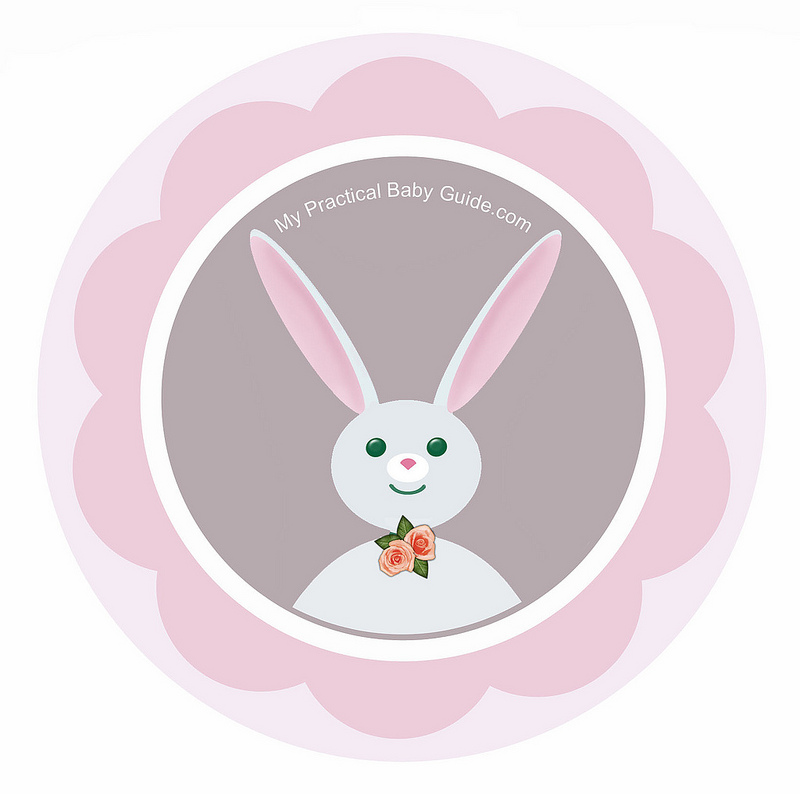 Free Printable Rabbit Girl Cupcake Toppers