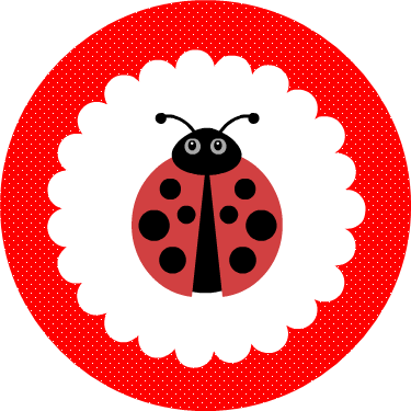 Free Printable Red Ladybug Cupcake Toppers