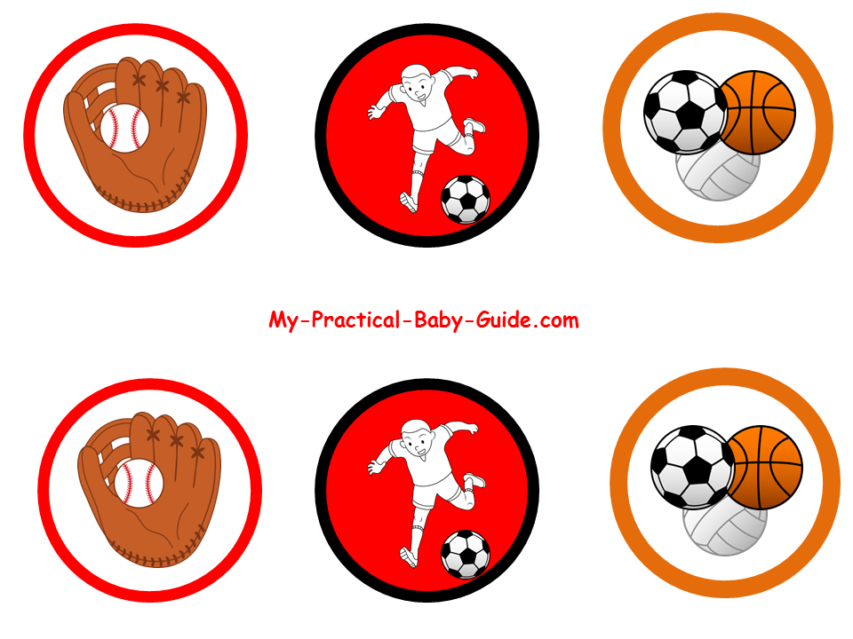 Free Printable Sport Cupcake Toppers