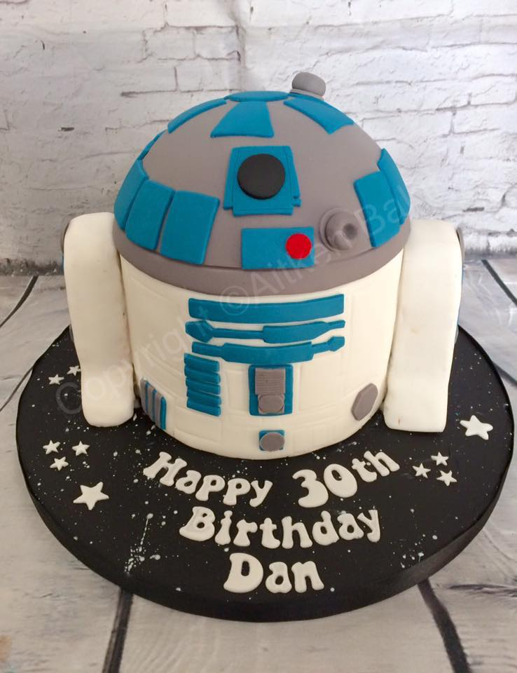 Star Wars R2D2 Birthday Cake