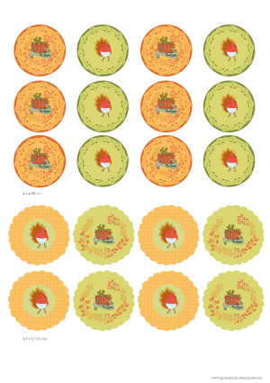 Free Printable Thanksgiving Baby Shower Cupcake Toppers