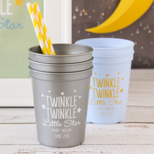 Twinkle Twinkle Stadium Cups  Baby Shower Favors