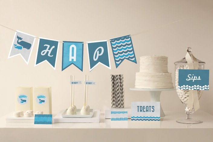 Whale Baby Shower Party Decor