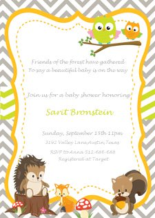 woodland baby shower invitation etsy shop 2 rabbits print u0026 enjoy