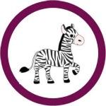 free zebra cupcake topper